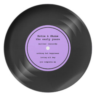 Vinyl Record Melamine Plate