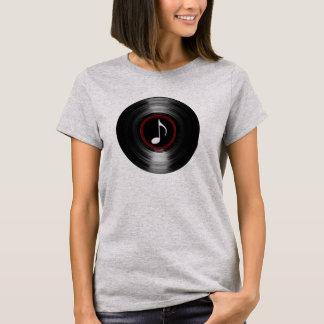 vinyl record & musical note T-Shirt