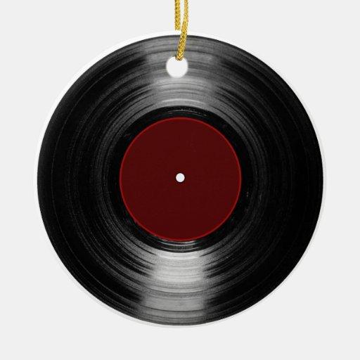 vinyl record christmas tree ornaments