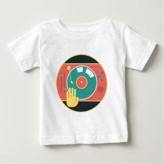 Vinyl-record-player-hand-scratch Baby T-Shirt