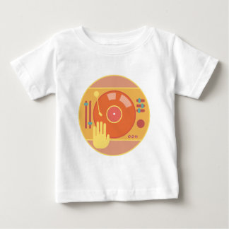 Vinyl-record-player-hand-scratch-light Baby T-Shirt