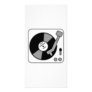 Vinyl Record Player Picture Card