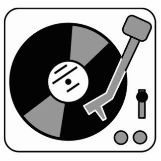 Vinyl Record Player Statuette