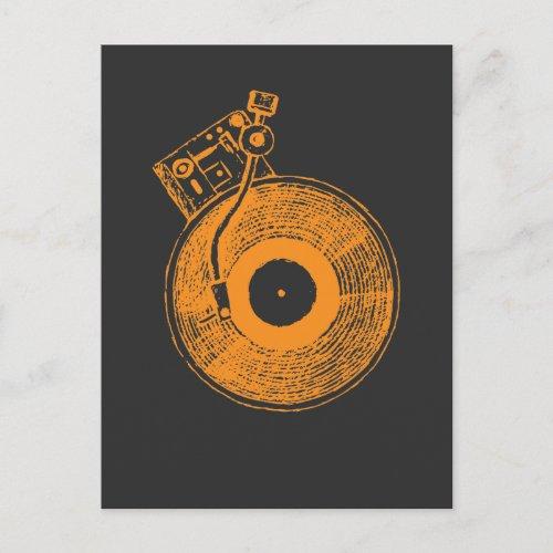 Vinyl Record Player Turntable Music Gift for DJ Postcard