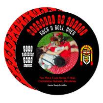 Vinyl Record RETRO Invitation ADD PHOTO RocknRoll