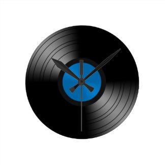 Vinyl Record Round Clock