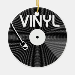 Vinyl Record Turntable Ceramic Ornament