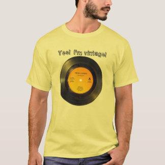 Vinyl Record Vintage Edit Text n Song T-Shirt