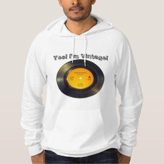 Vinyl Record Vintage Edit Text-Song Hoodie