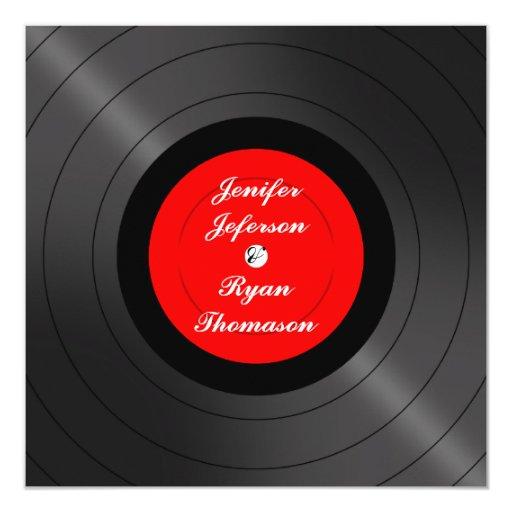Vinyl Record Wedding Invitation Zazzle