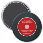 Vinyl Record Wedding Save the Date 3 Inch Round Magnet