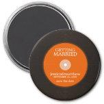 Vinyl Record Wedding Save the Date Fridge Magnet