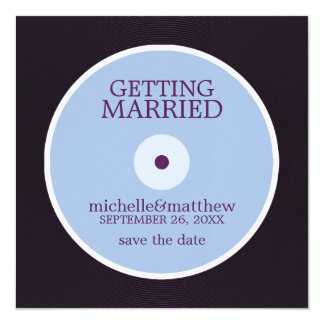 Vinyl Record Wedding Save the Date Announcement