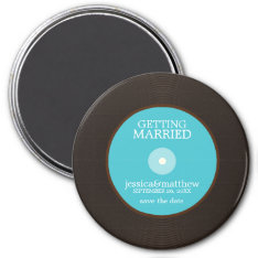 Vinyl Record Wedding Save The Date Magnet at Zazzle
