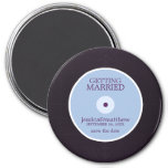 Vinyl Record Wedding Save the Date Magnets