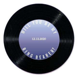 Vinyl Record Wedding WILL YOU BE MY RING BEARER Card
