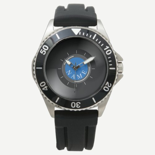 VINYL RECORD | with monogram or text Wrist Watch