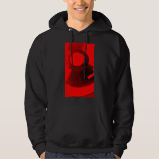 Vinyl record with red effects hoodie