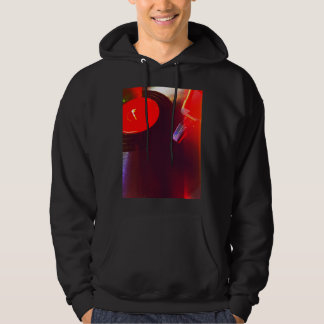 Vinyl record with red light leaks hoodie