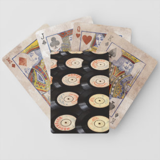 Vinyl Records Background Bicycle Playing Cards