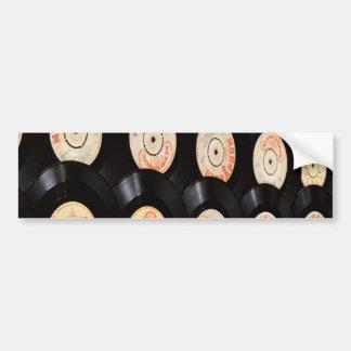 Vinyl Records Background Bumper Stickers