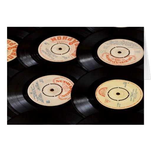 Vinyl Records Background Card