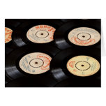 Vinyl Records Background Greeting Card