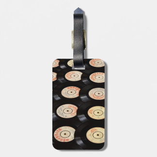 Vinyl Records Background Luggage Tag