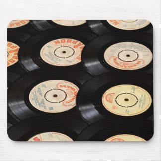 Vinyl Records Background Mouse Pad