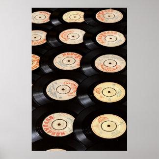 Vinyl Records Background Print