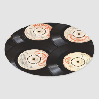 Vinyl Records Background Sticker