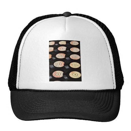 Vinyl Records Background Trucker Hats