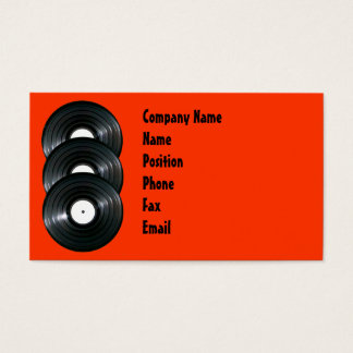 Vinyl Records Business Card