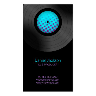 Vinyl Records DJ Music Store business cards