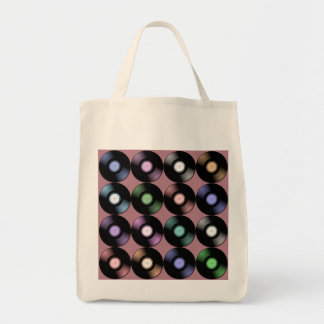 VINYL RECORDS Grocery Tote Bag