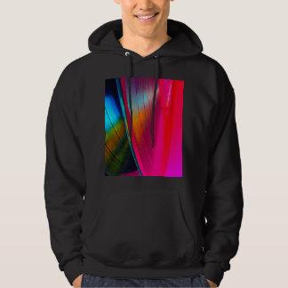 Vinyl records magenta hoodie