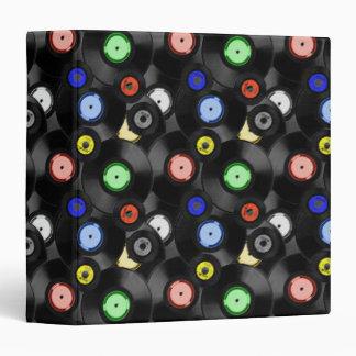 Vinyl Records Notebook 3 Ring Binder