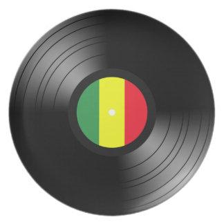 Vinyl reggae melamine plate