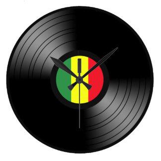 Vinyl reggae wallclock