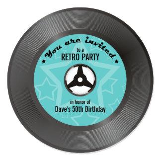 Vinyl Retro Party Card