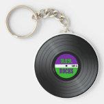 Vinyl Rocks LP Key Chain