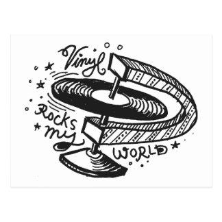 Vinyl Rocks My World 1 Post Card