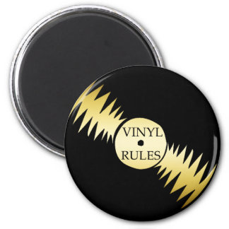VINYL RULES 2 INCH ROUND MAGNET