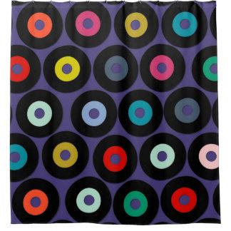 vinyl violet shower curtain
