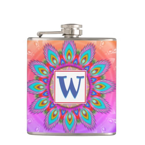 Vinyl wrapped custom hip flask psychedelia