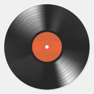 Vinyle Record Classic Round Sticker