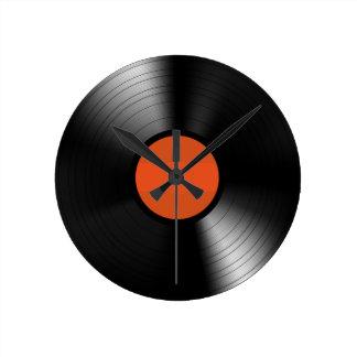 Vinyle Record Round Clock