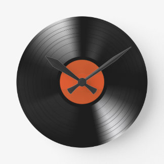 Vinyle Record Round Wall Clock