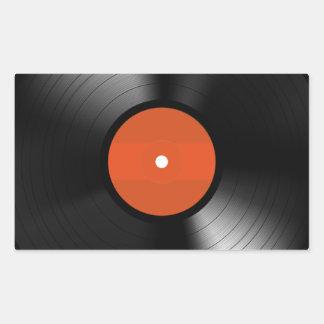 Vinyle Record Rectangle Sticker