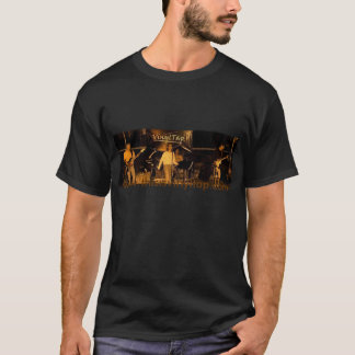 VinylTap black t-shirt with band photo